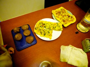 Pizza in China  with Muffins